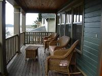 Front porch of cottage home