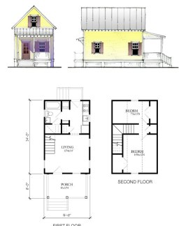 click on plans to enlarge - Katrina Cottage Plans