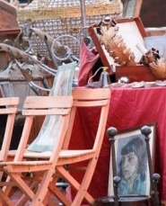 weekend flea market in Bologna Italy