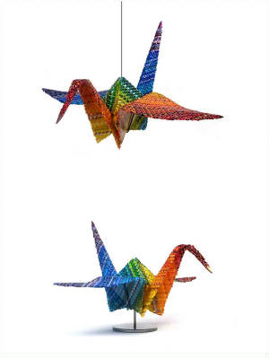 Peace Cranes - unique woven glass from Markow & Norris