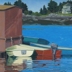 Maine landscape paintings - Martha Baum